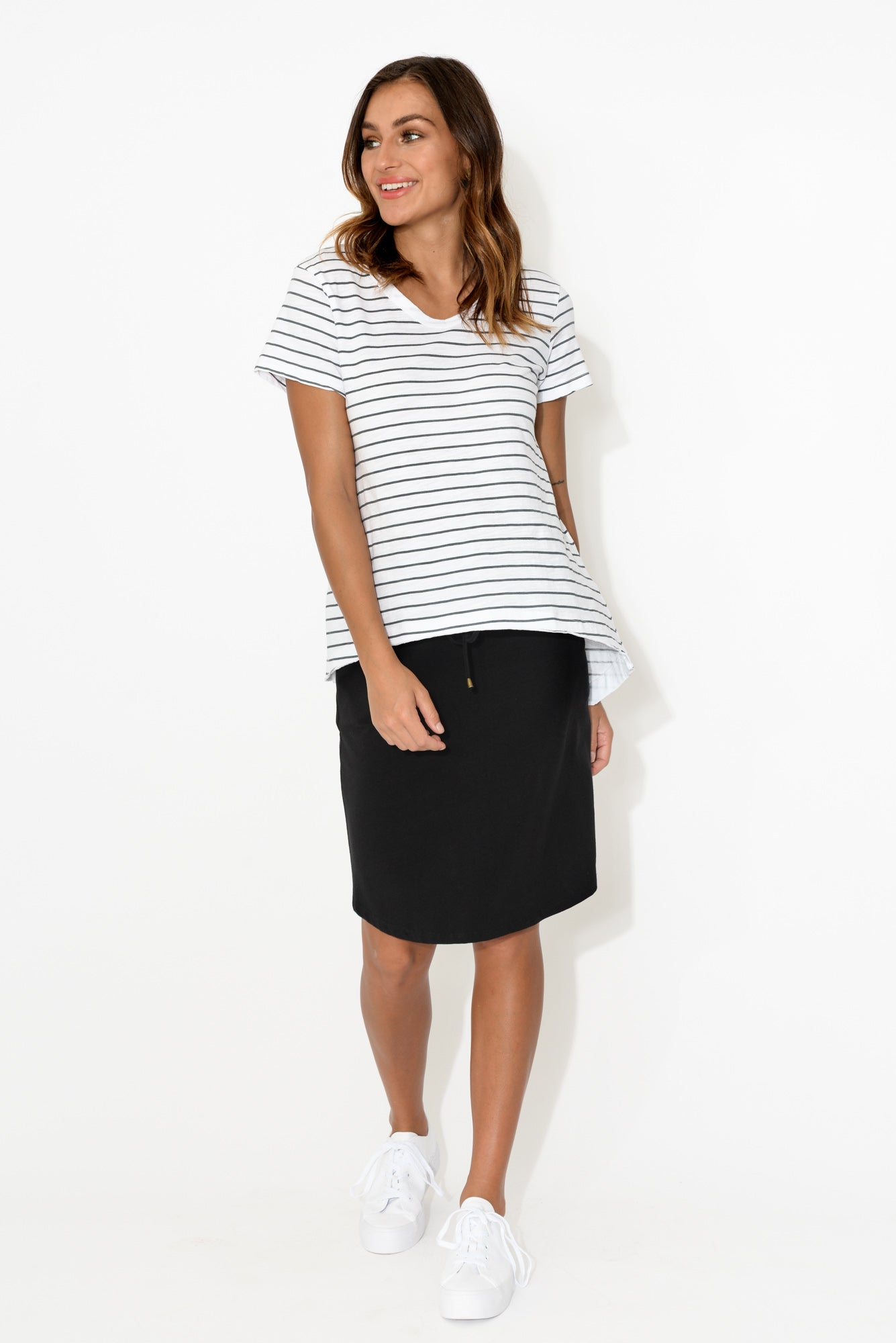 Thornton Navy Stripe Cotton Tee