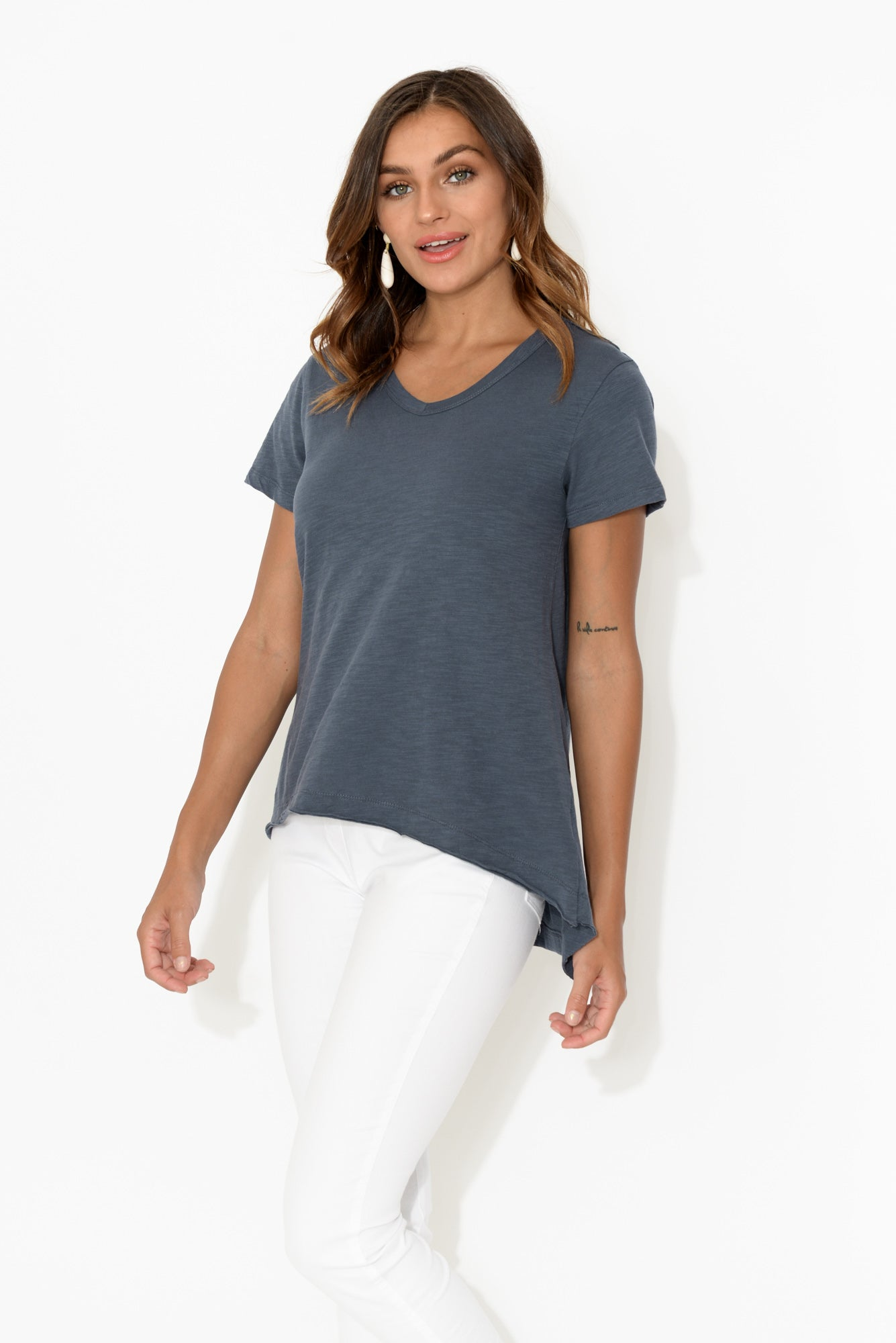Thornton Navy Cotton Tee