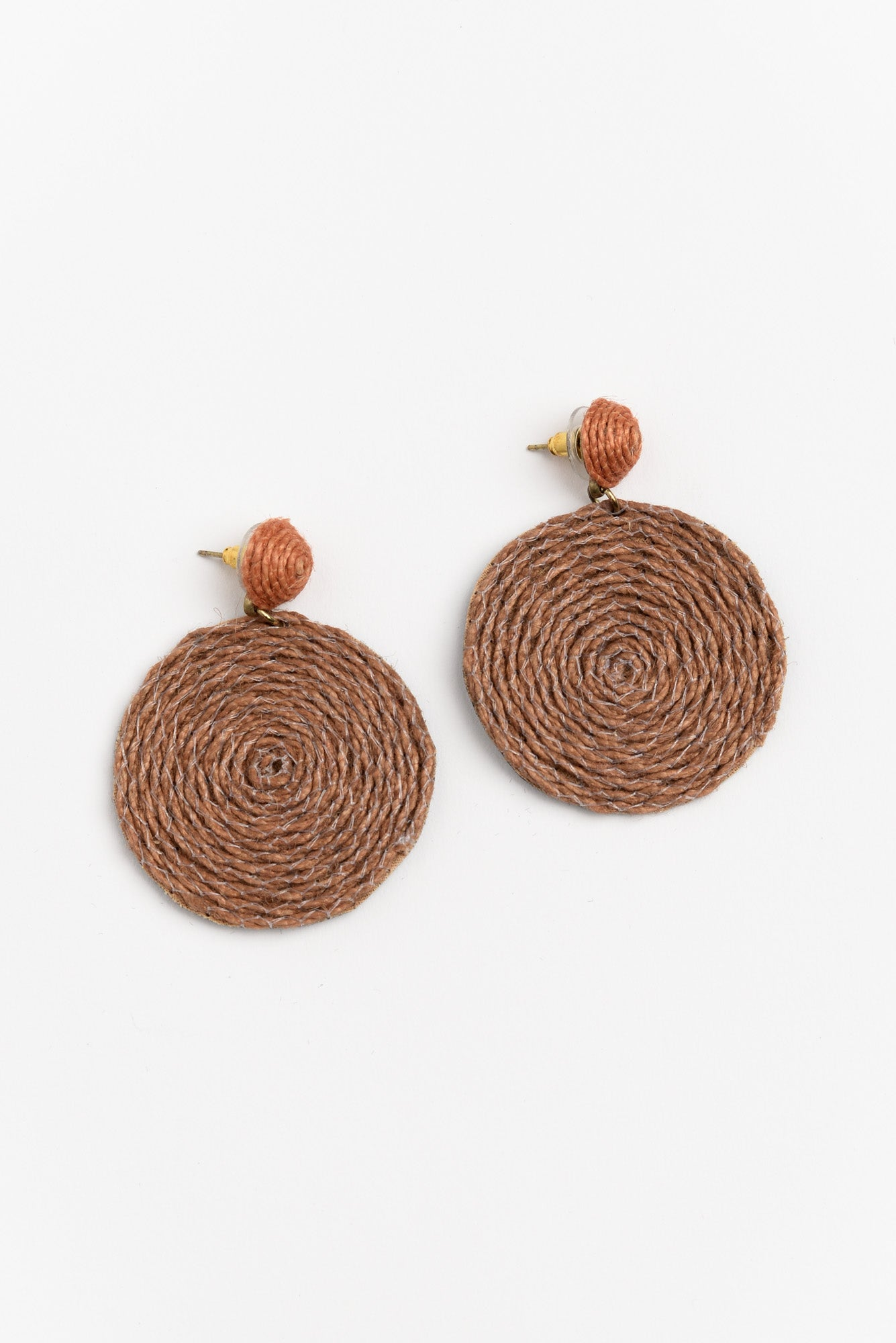 Tilda Brown Coiled String Earring