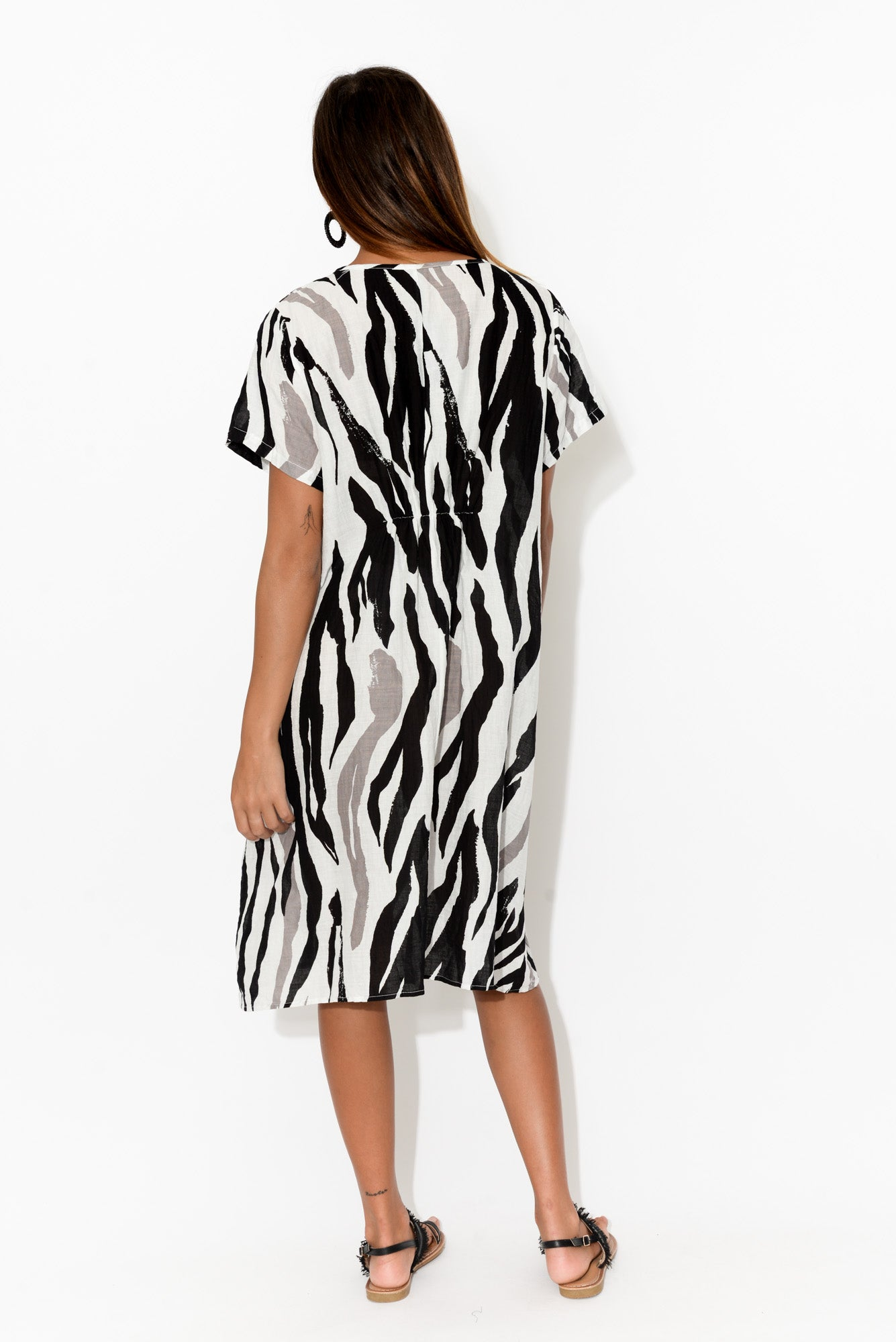Tilly Black Zebra Dress