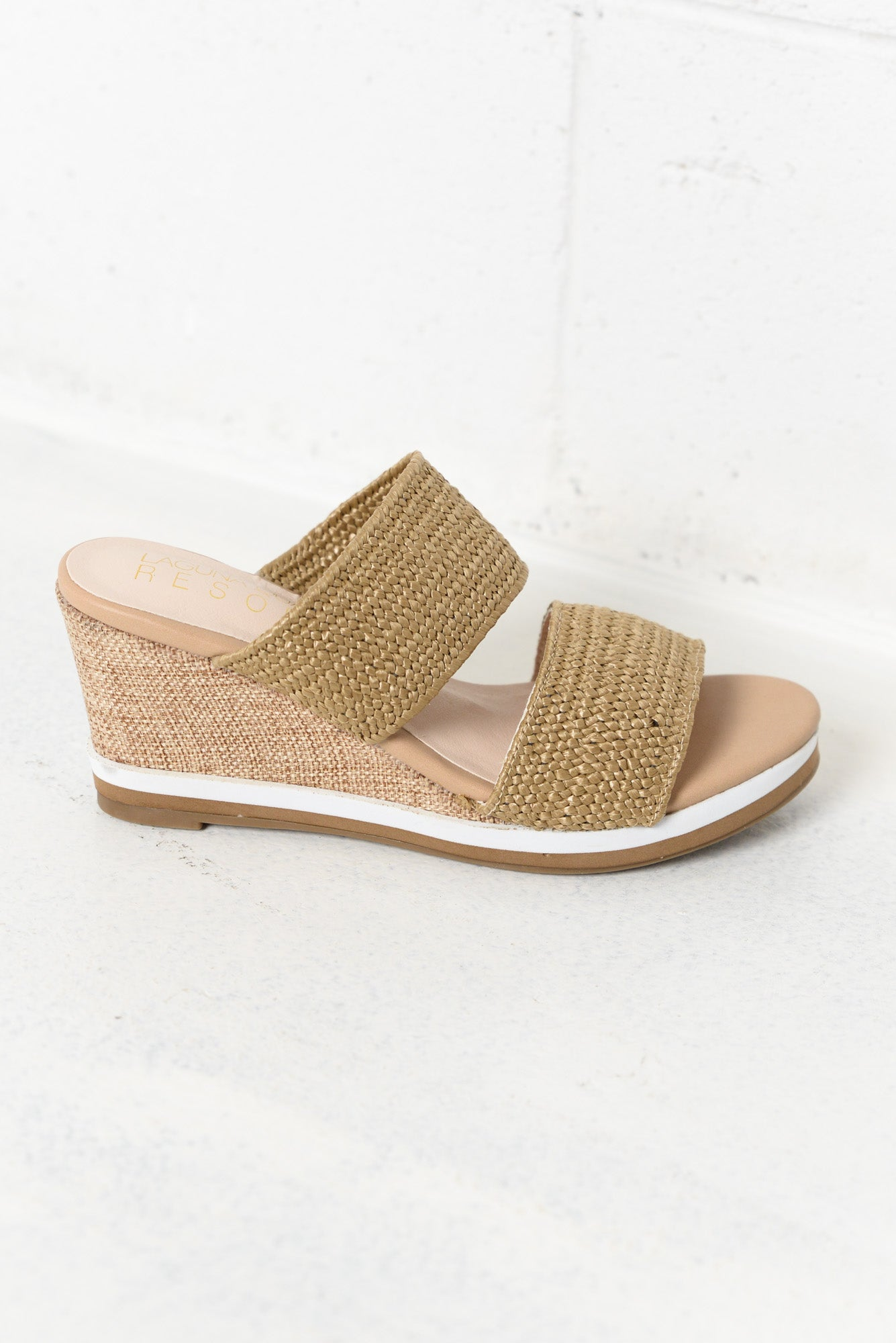 Tods Natural Wedge Mule Sandal