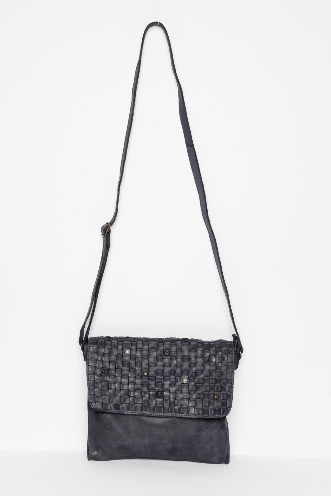Tori Navy Leather Crossbody Bag - Blue Bungalow