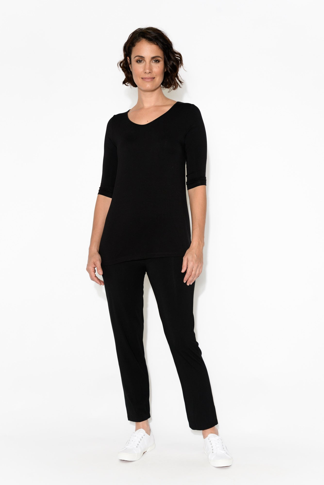 Women's Black Ponte Pants