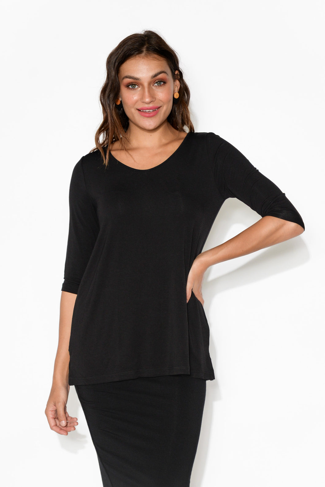 Tropez Black Bamboo Top