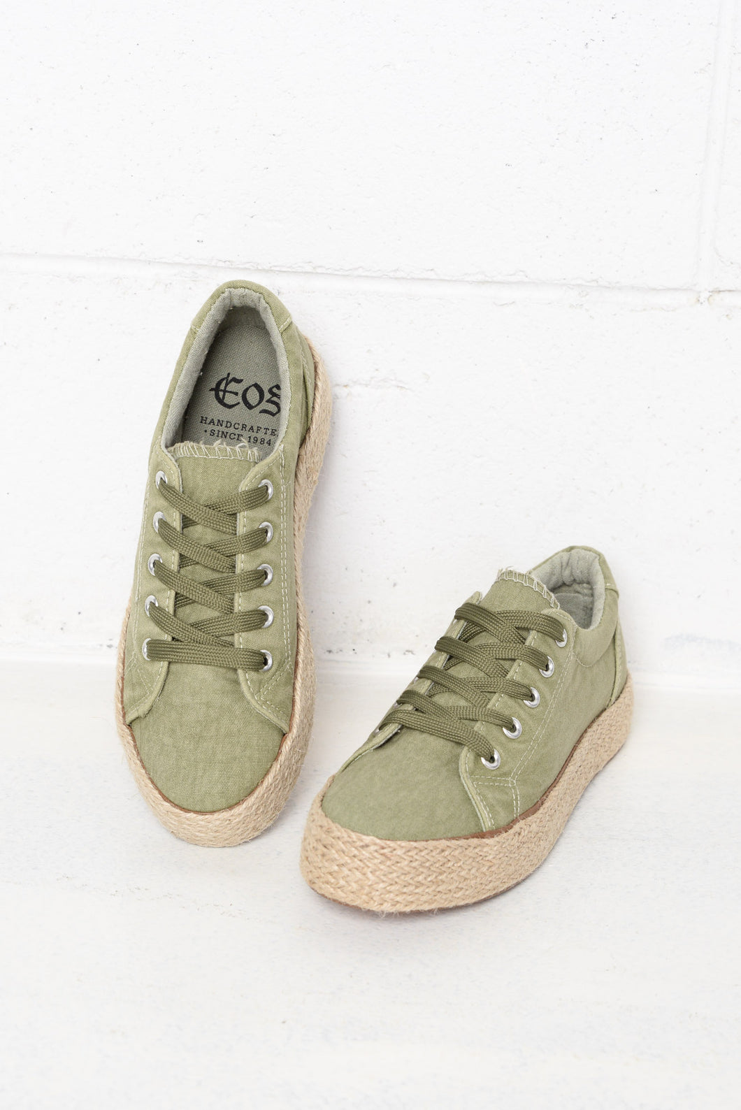 Ultra Sage Washed Canvas Sneaker