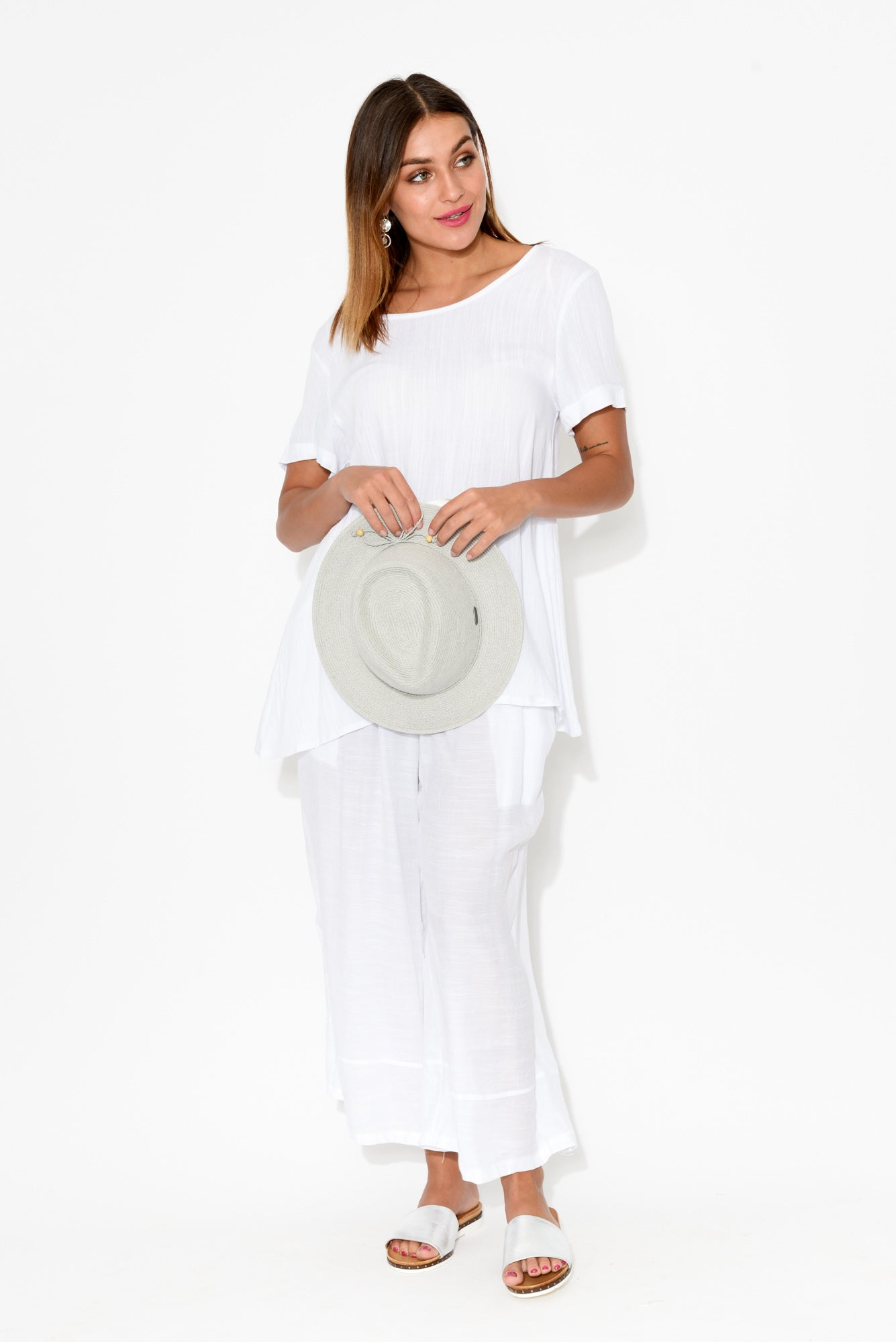Vada White Pocket Top