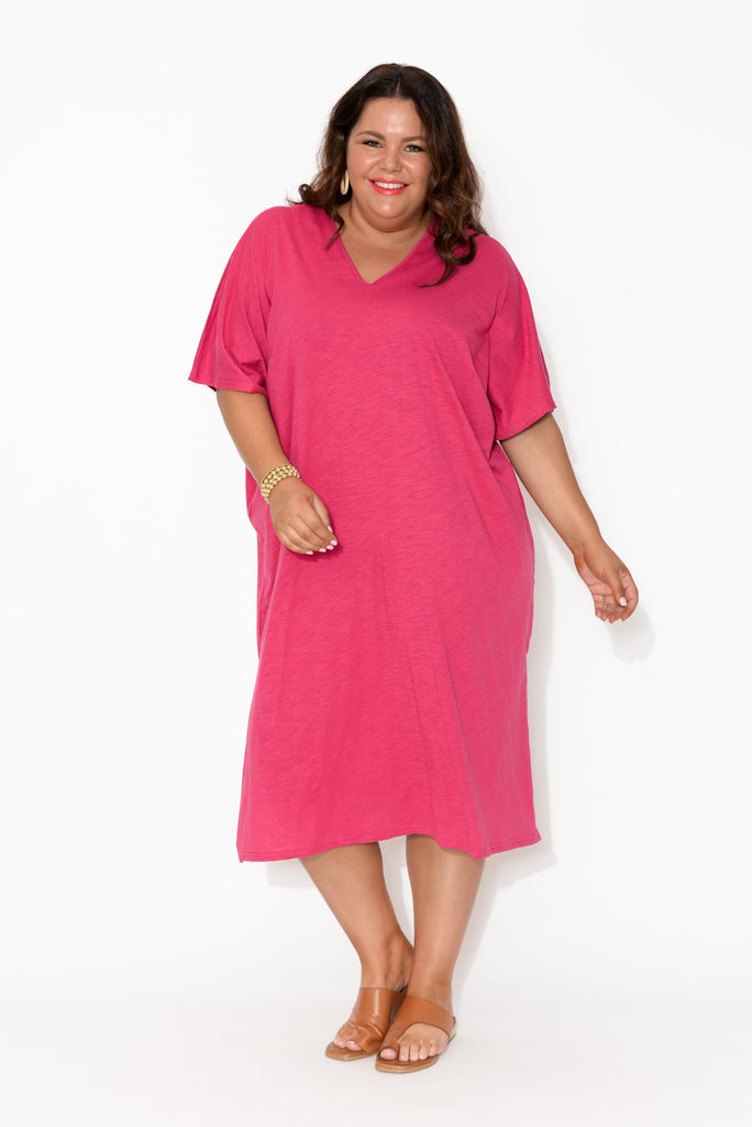 Vallarta Pink Cotton Slub Dress