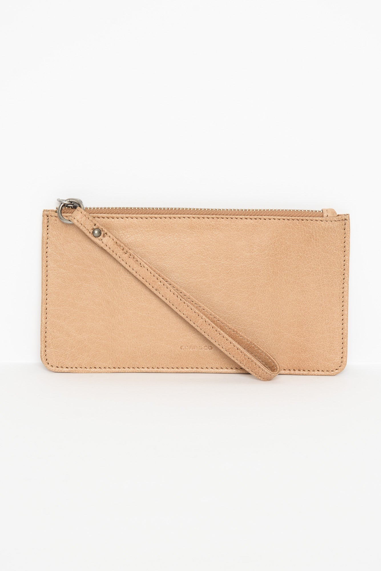 Vaucluse Camel Leather Medium Pouch