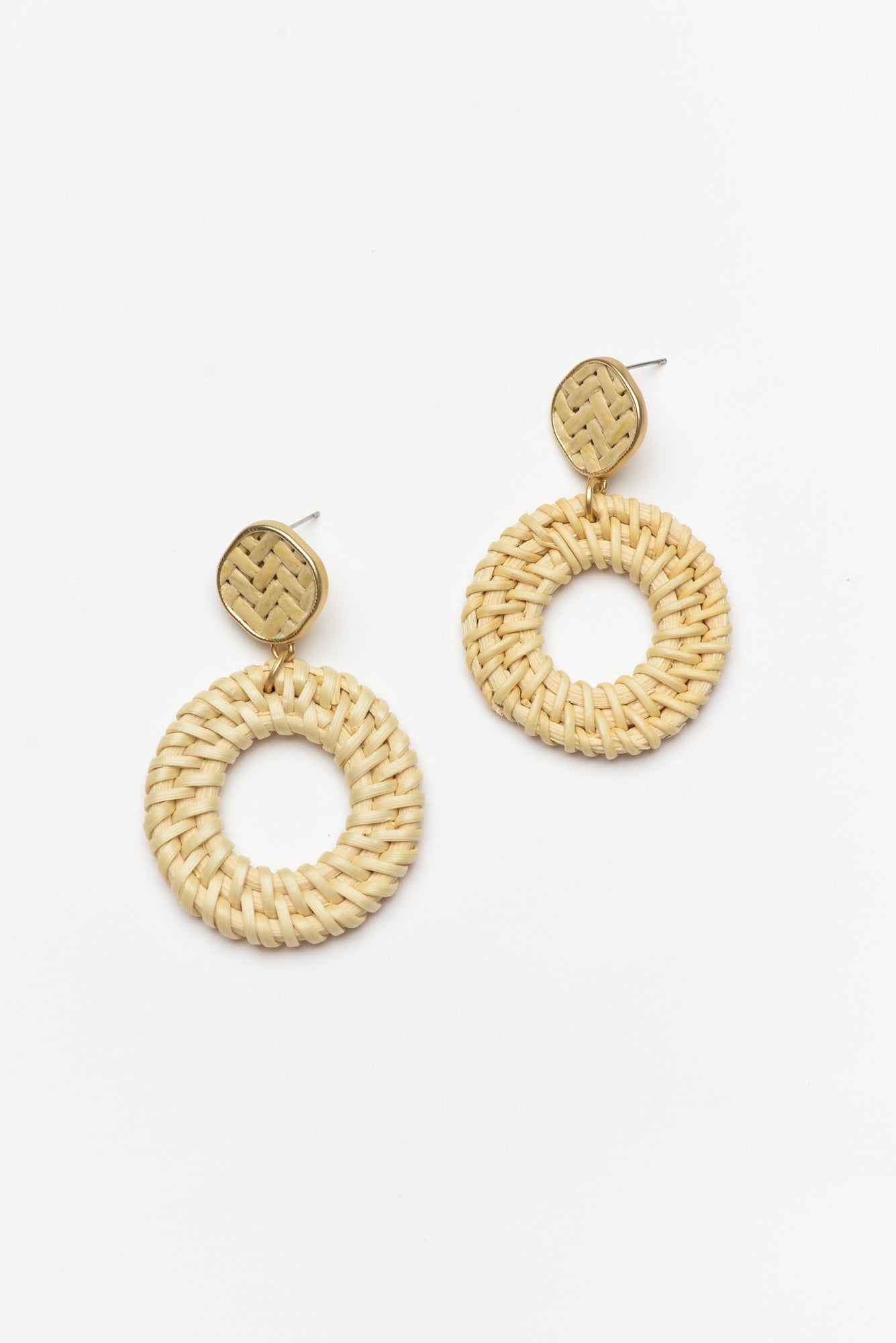 Vincent Natural Woven Earring