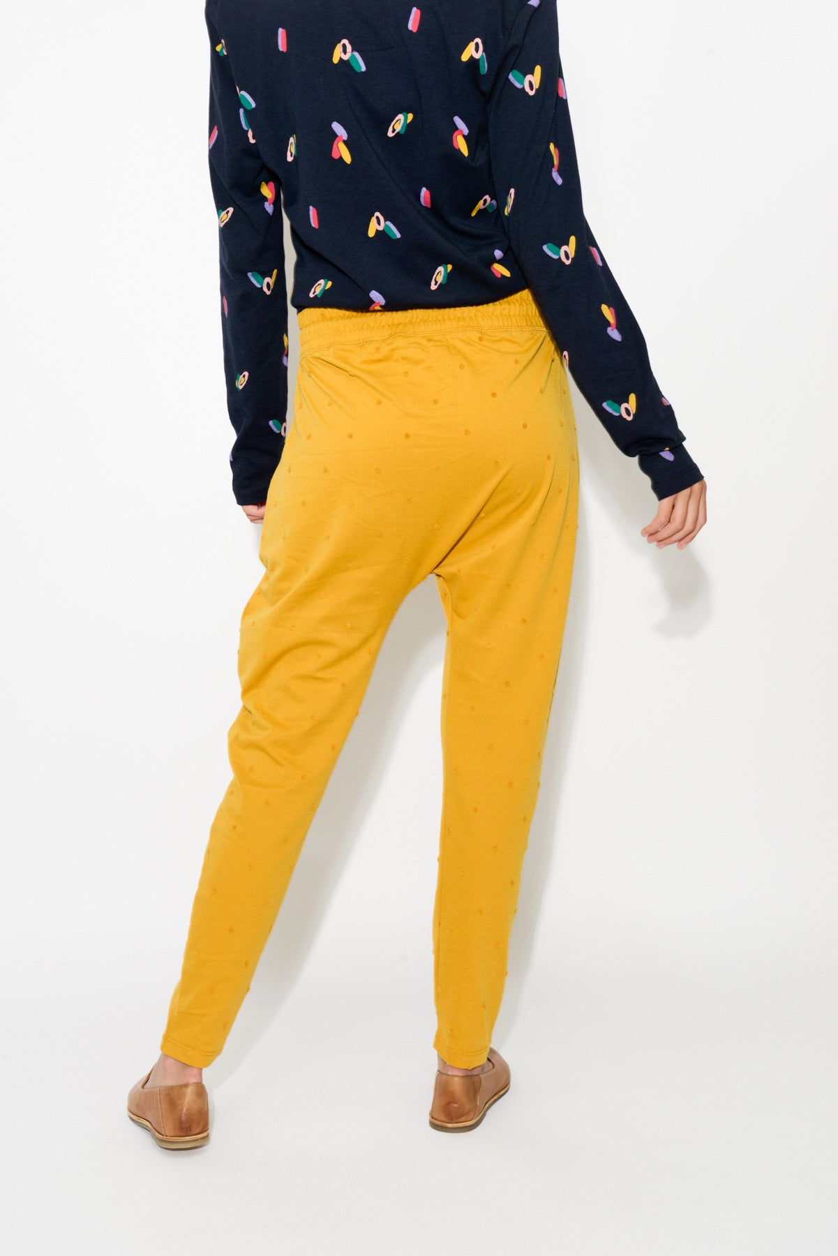 Wanderer Yellow Spot Pant - Blue Bungalow