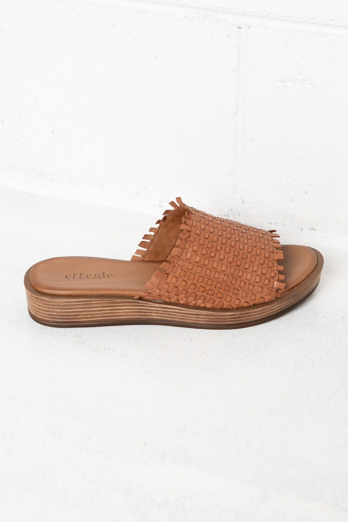 Weaver Brandy Leather Slide