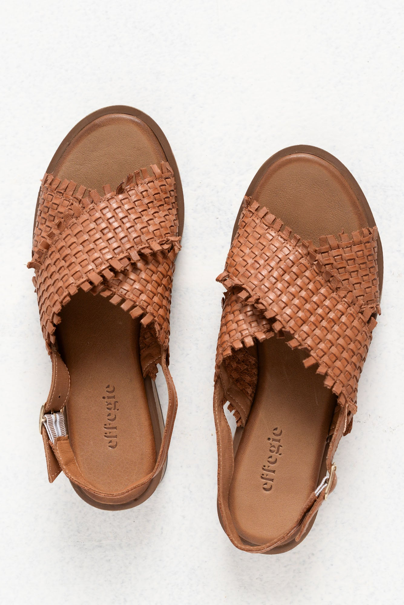 Weaving Brandy Leather Sandal