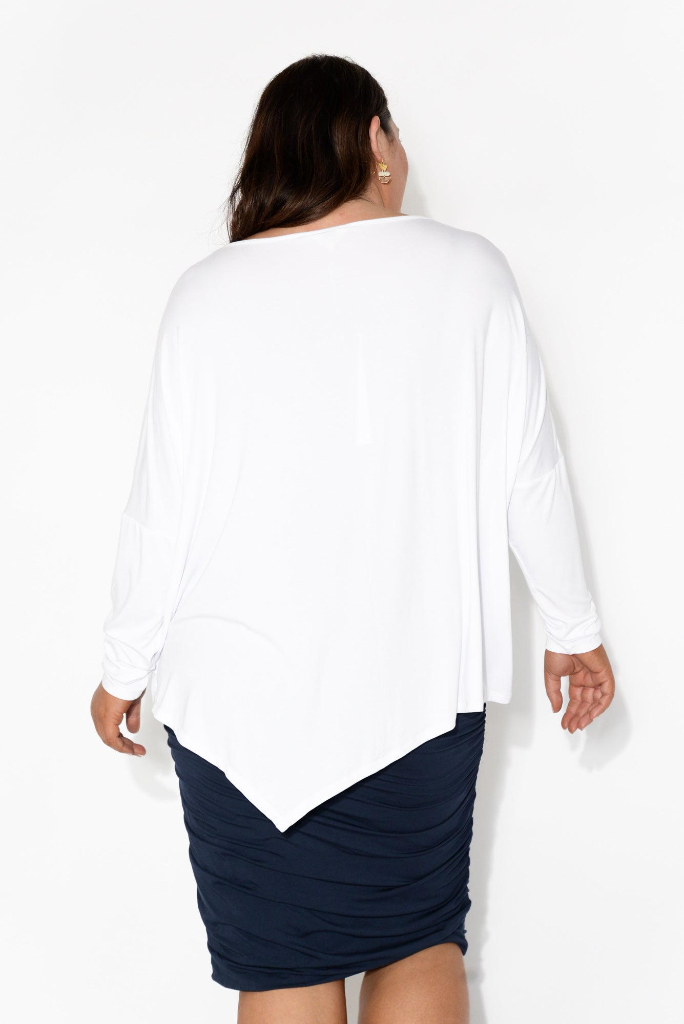 White Bamboo Relaxed Boatneck Top