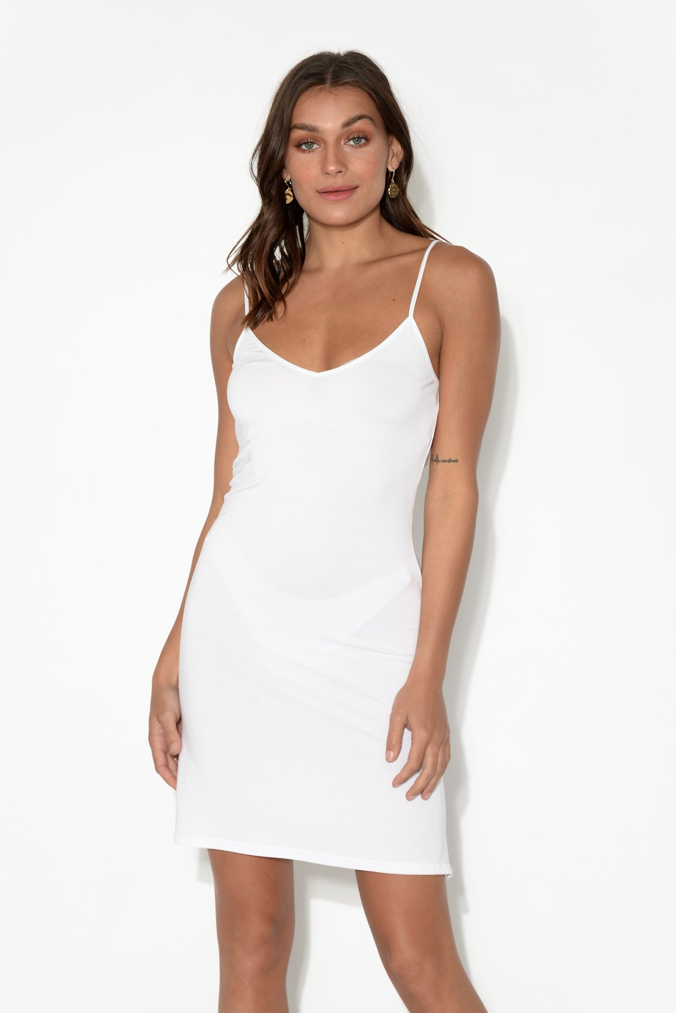 White Modal Slip Dress