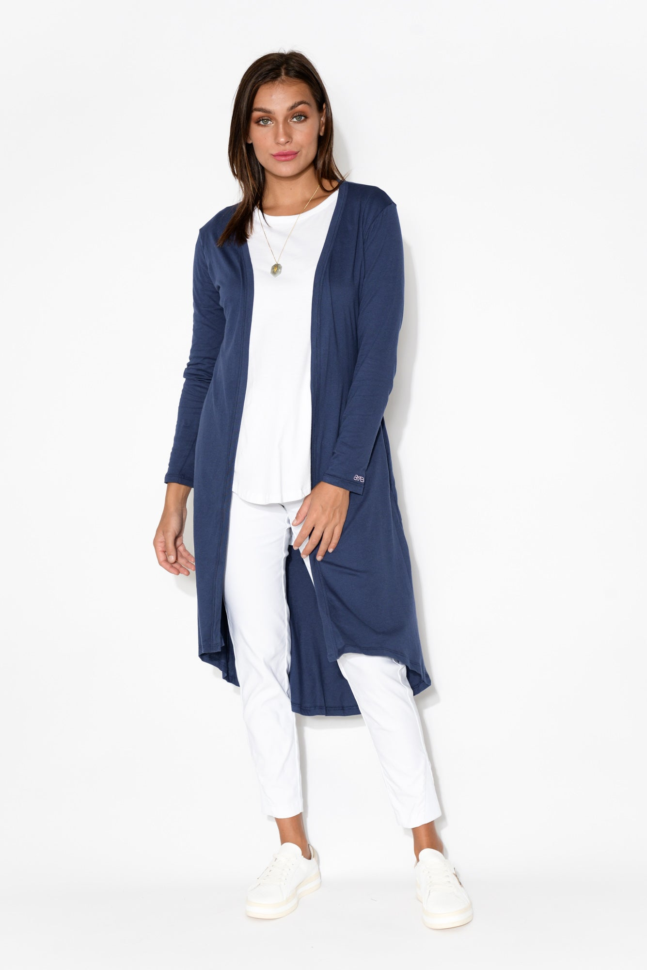 Scarlett Navy Cotton Cardigan