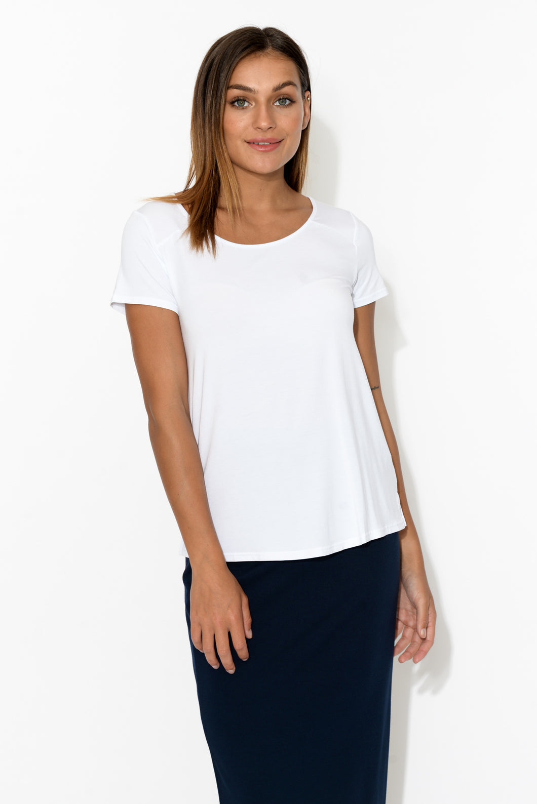 White Modal Resort Tee