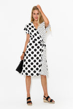 White Spotty Wrap Dress - Blue Bungalow