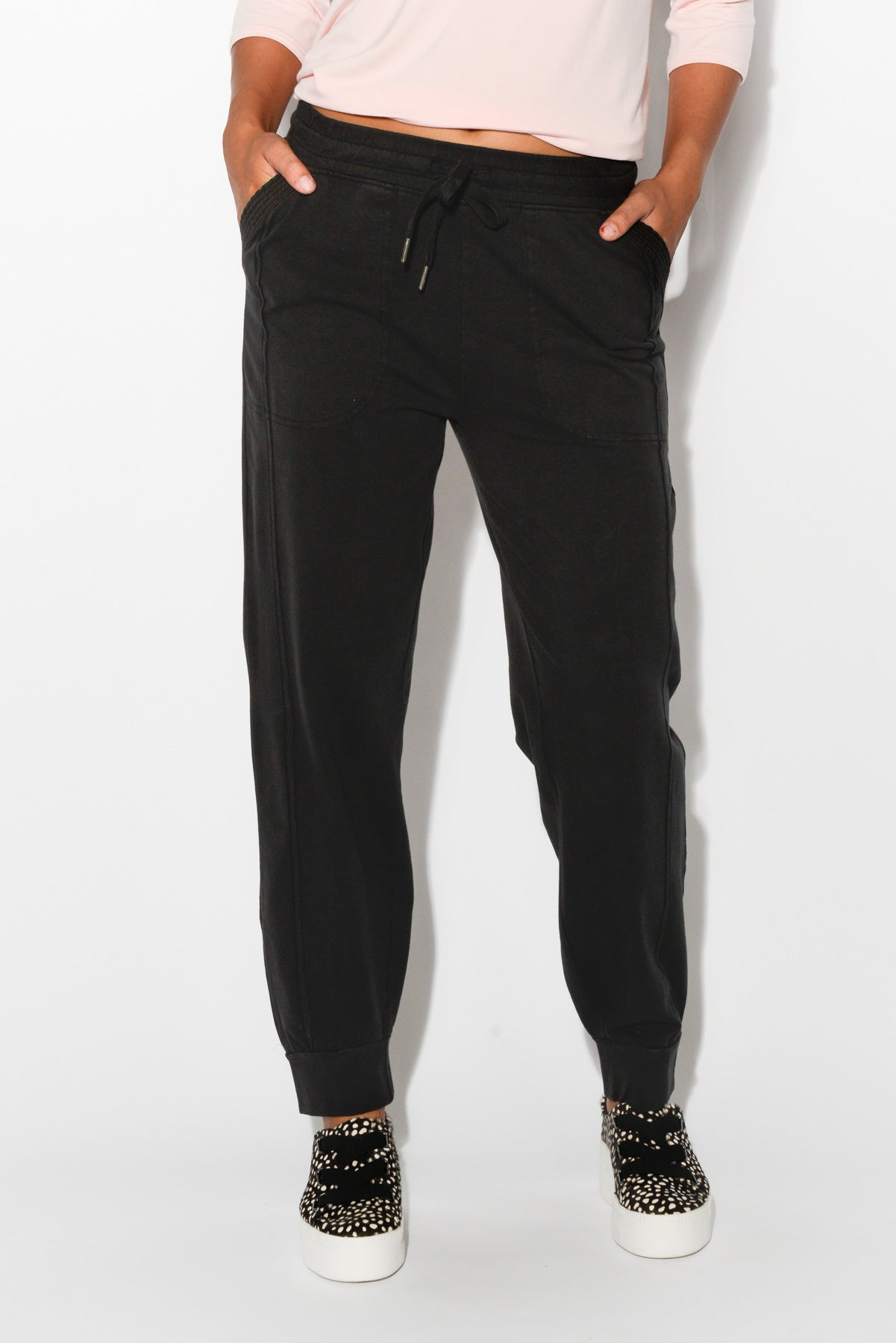 Willow Black Cotton Pant - Blue Bungalow