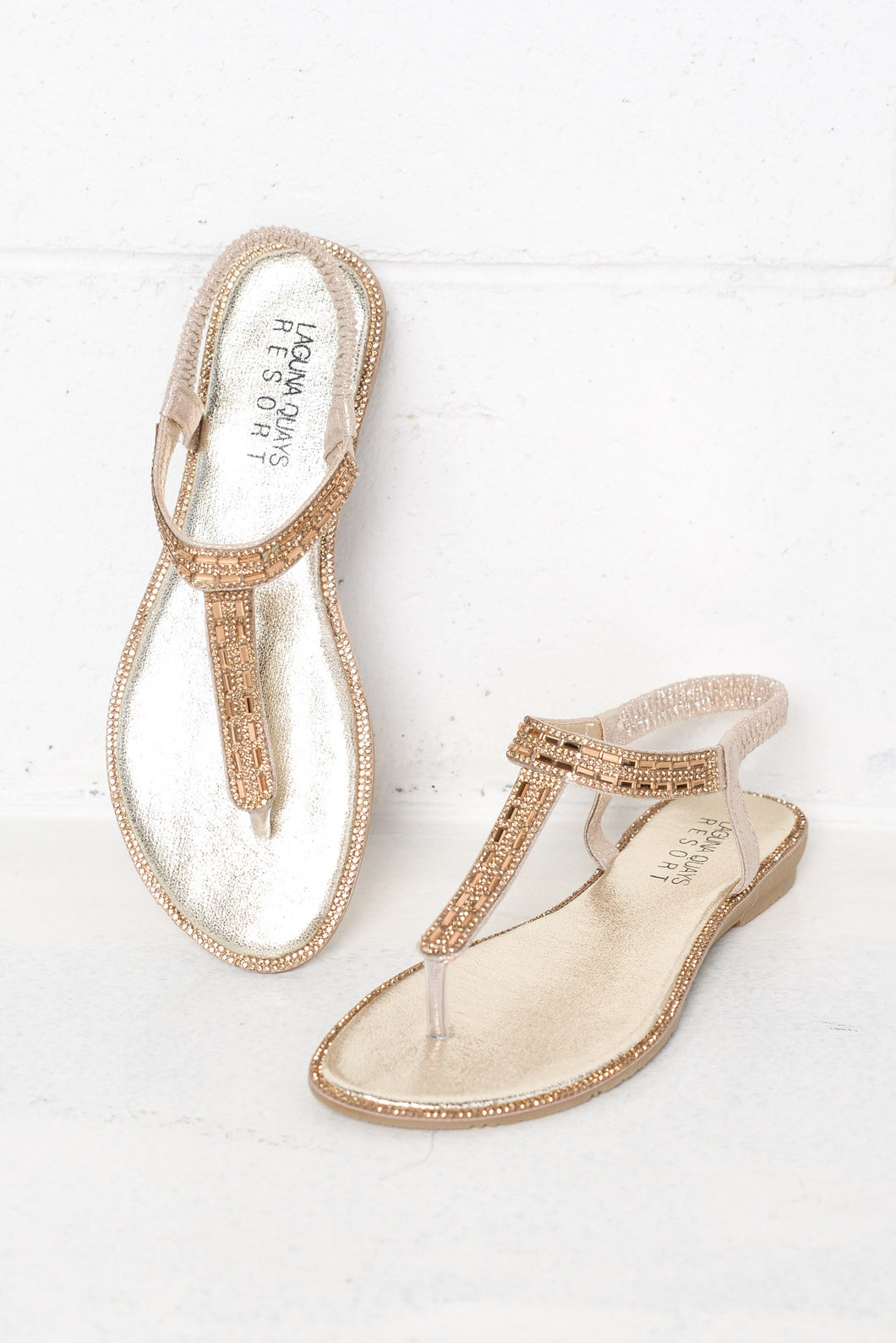 Wishing Gold Diamante Sandal