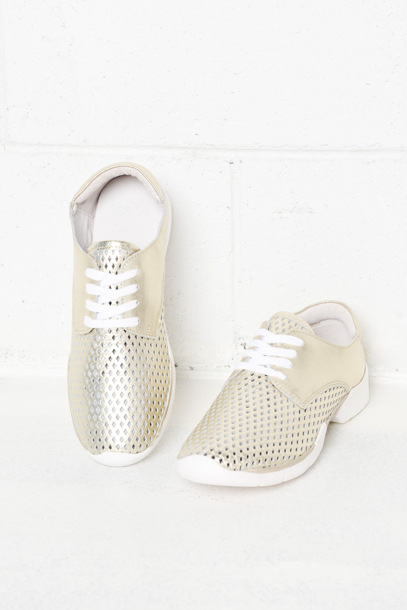 Xani Gold Leather Sneaker