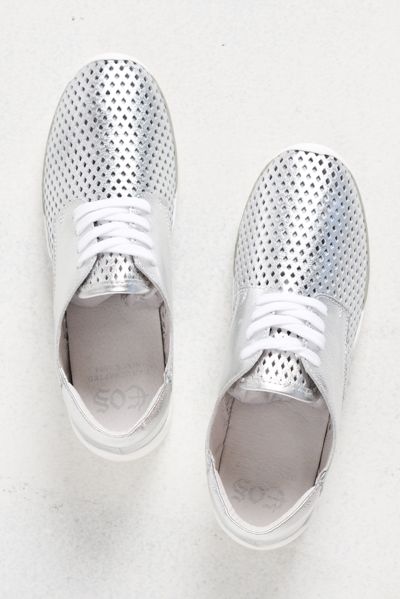 Xani Silver Leather Sneaker