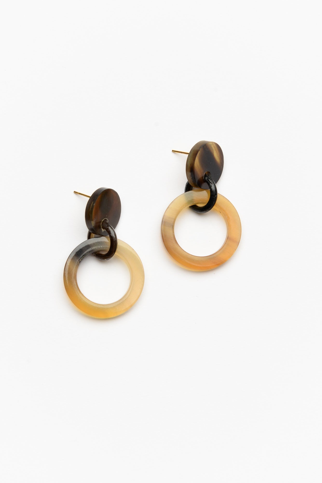 Xanthe Brown Resin Circle Earring