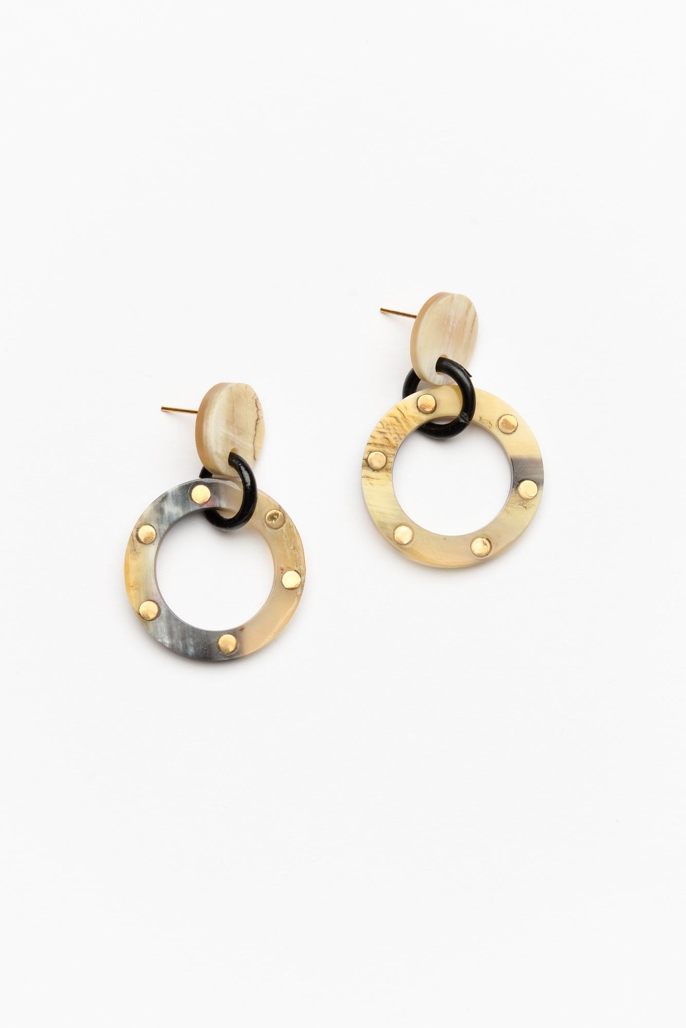 Xanthe Cream Resin Circle Earring