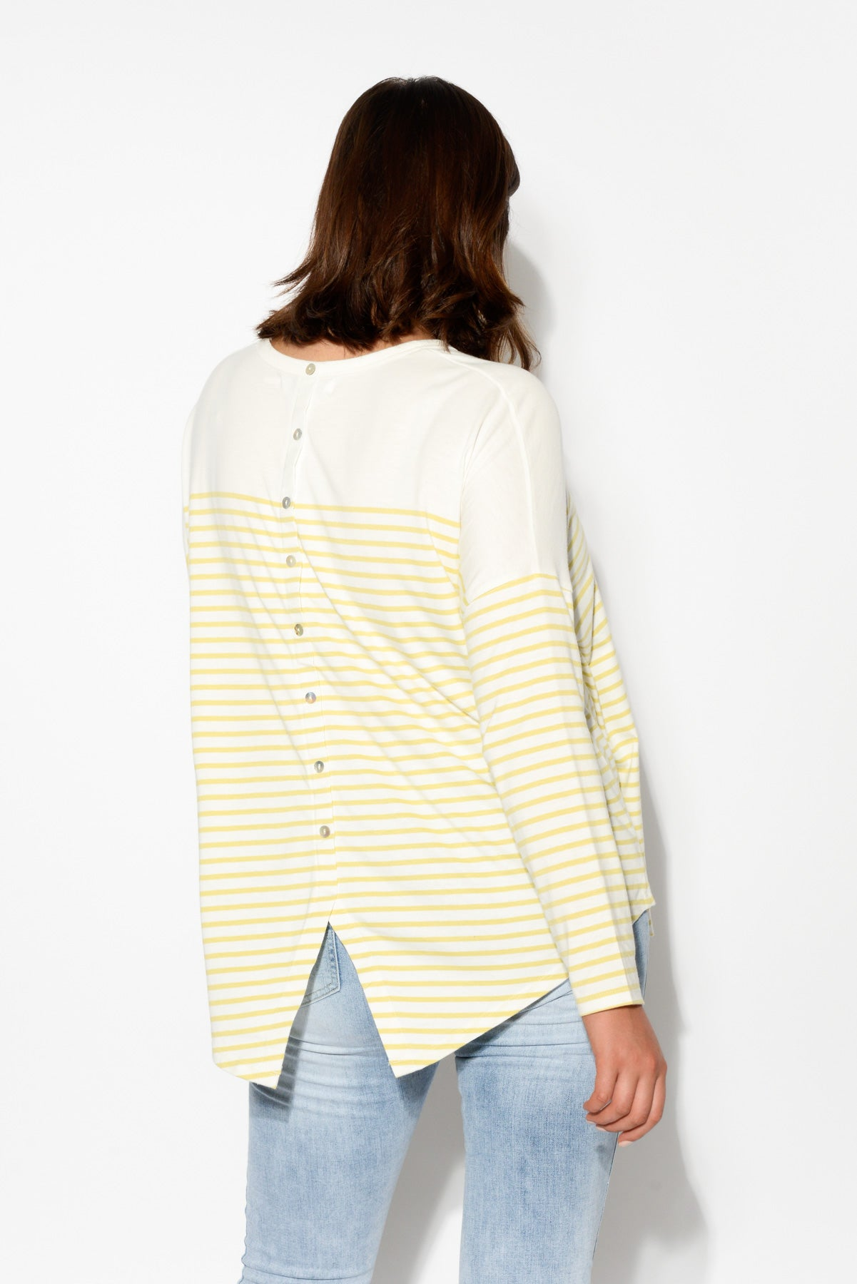 Yellow Stripe Bamboo Cotton Top - Blue Bungalow