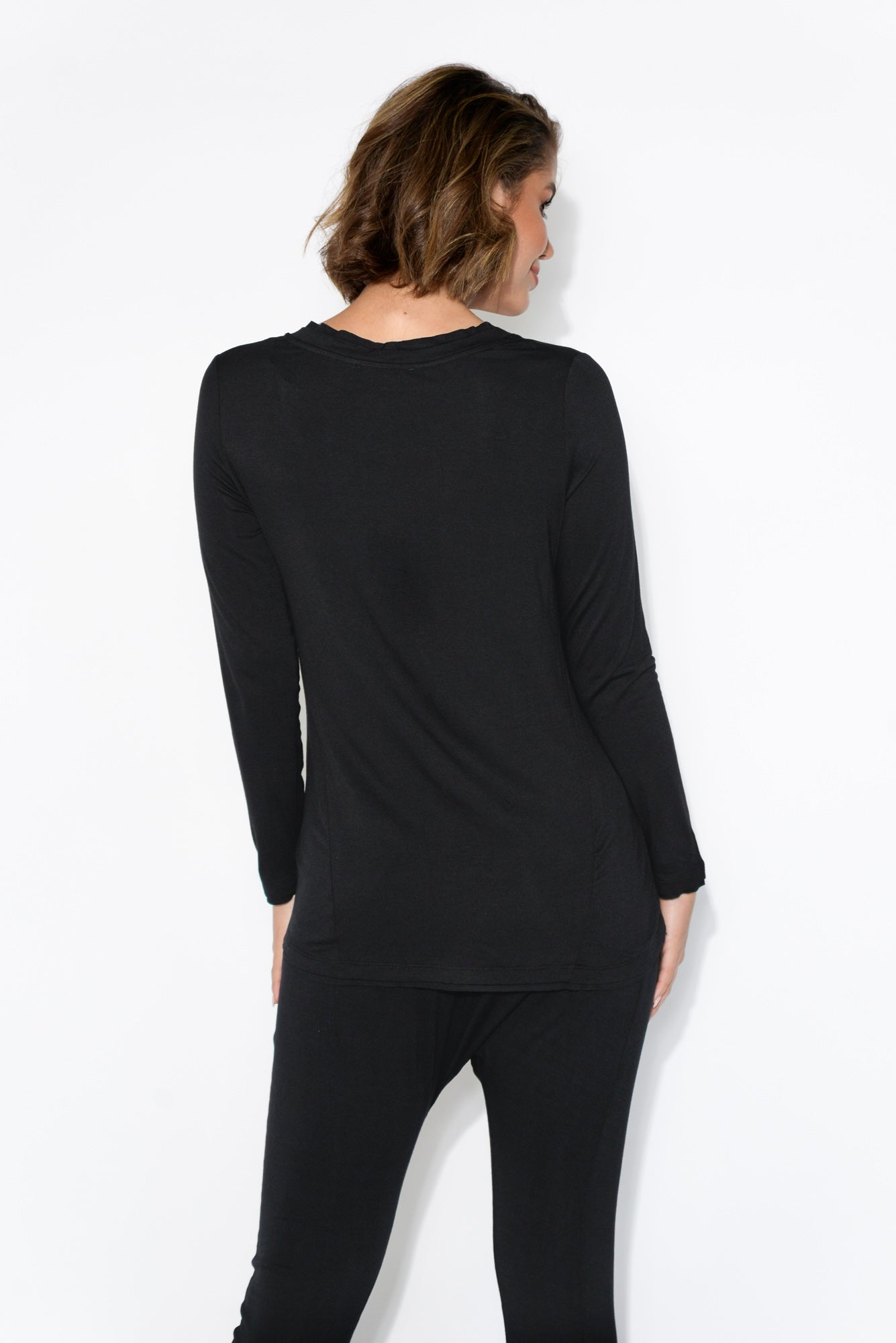 York Black Long Sleeve Top