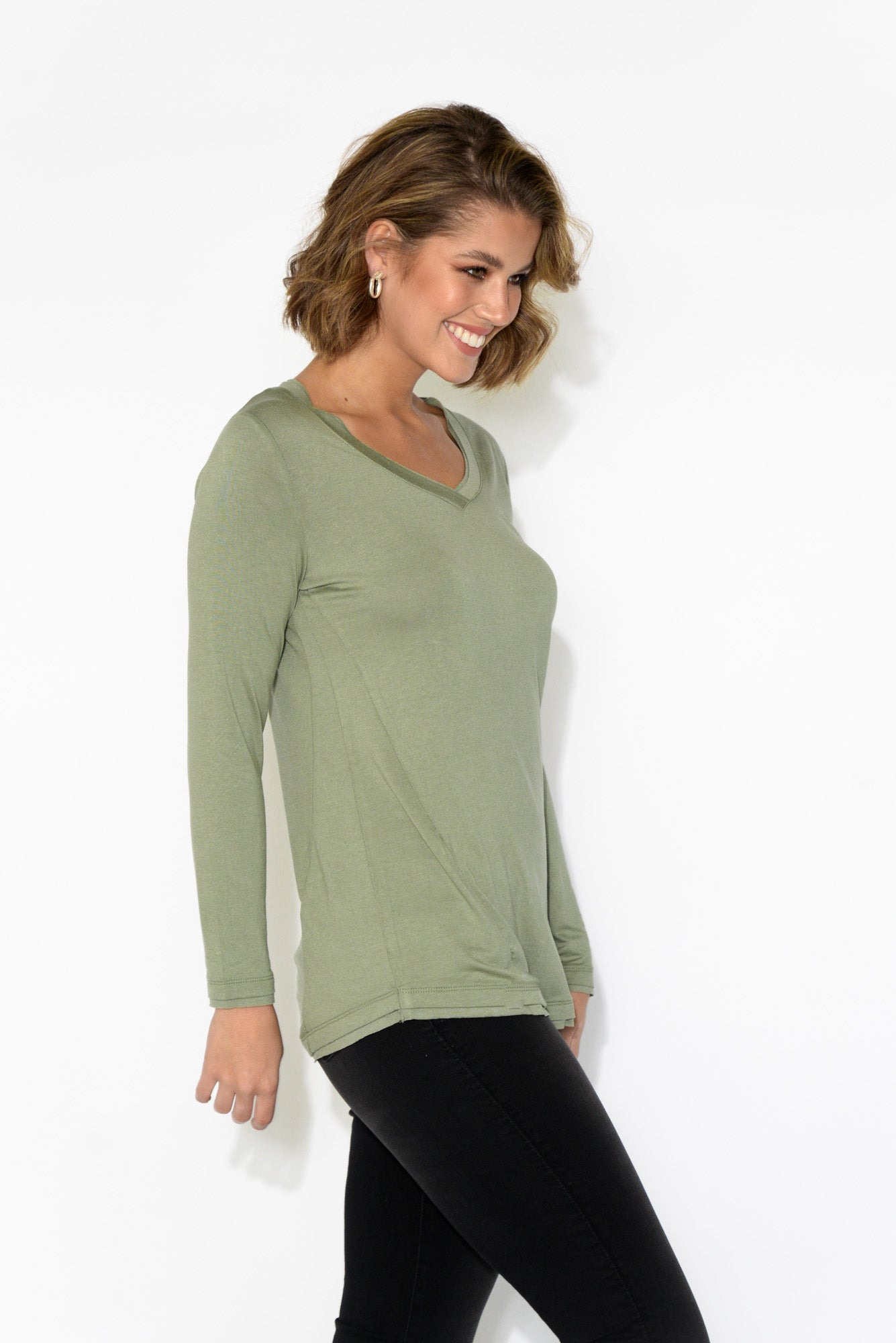 York Sage Green Long Sleeve Top