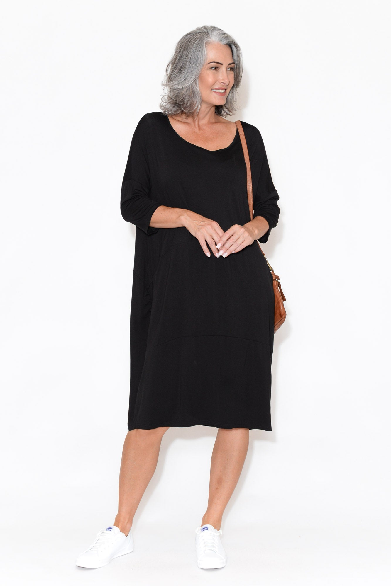 Zali Black Panel Seam Dress