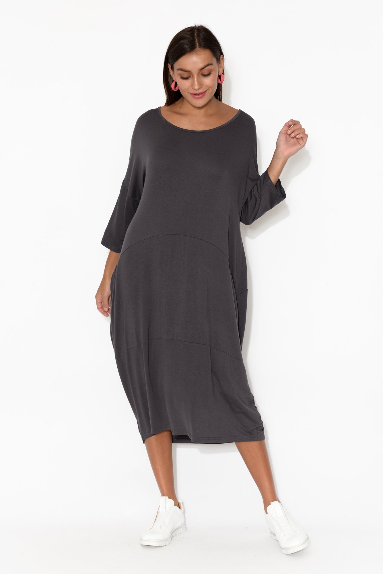 Zali Charcoal Panel Seam Dress