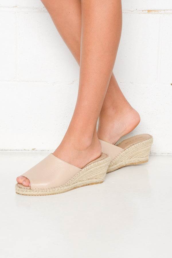 Boozy Naked Wedge Sandal - Blue Bungalow