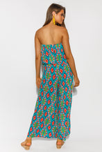 Lombardy Teal Strapless Jumpsuit
