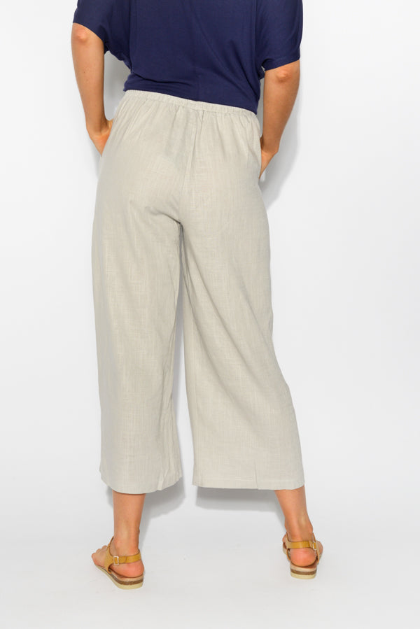 Liza Grey Linen Cotton Pant - Blue Bungalow