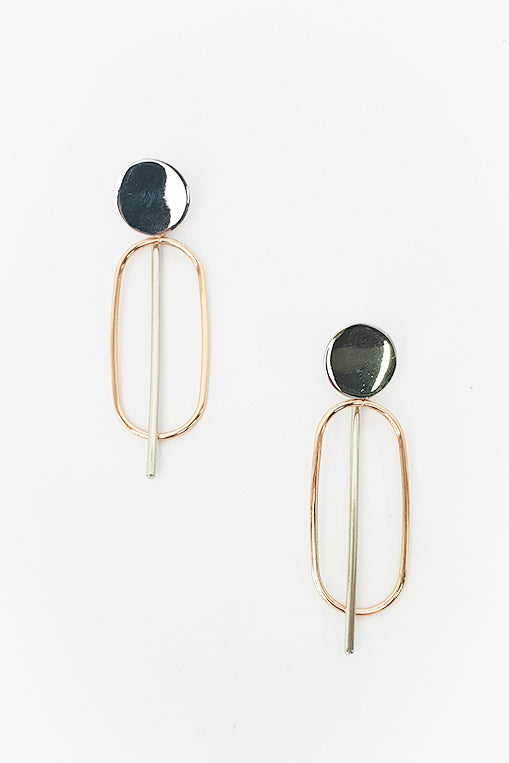 Lada Two Tone Earring - Blue Bungalow