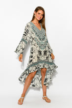 Tribal Silk Frill Dress