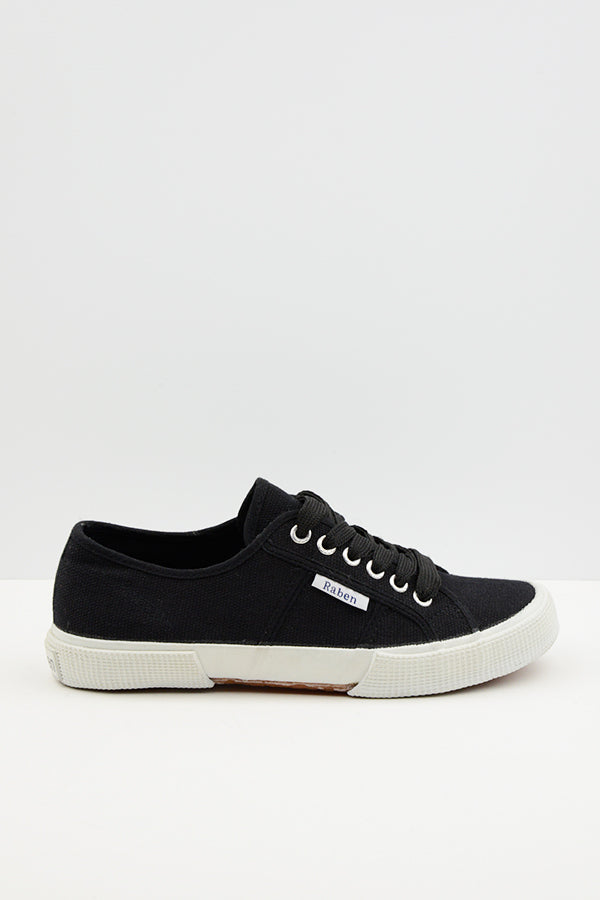 Black Turin Canvas Shoes - Blue Bungalow