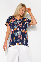 Navy Coral Reef Tee - Blue Bungalow