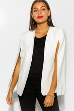 Uptown White Cape Blazer - Blue Bungalow