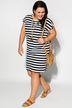 Navy Stripe Cotton Tee Dress
