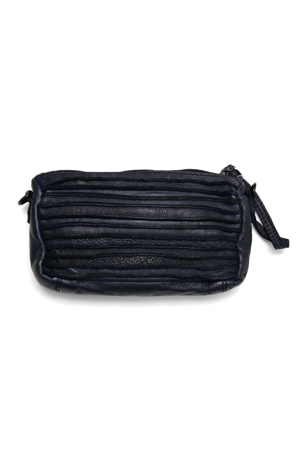 Black Karyn Leather Sling Clutch - Blue Bungalow