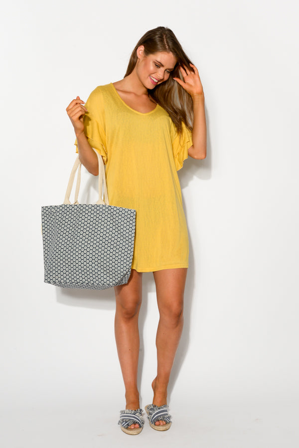 Sydney Yellow Beach Dress - Blue Bungalow