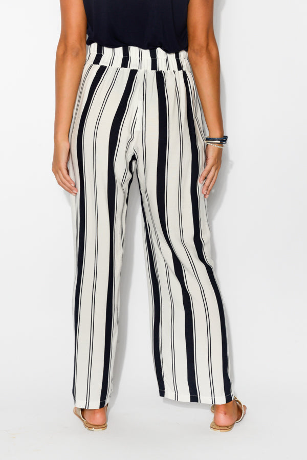 Lucy Navy Stripe Pant - Blue Bungalow