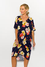 Quinn Navy Floral Kaftan Dress
