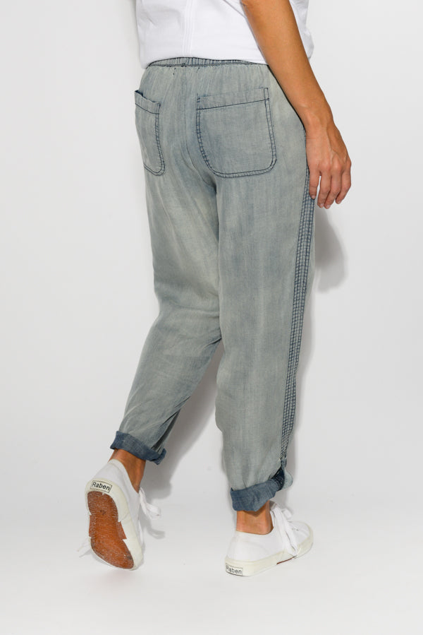 Washed Blue Lyocell Pant - Blue Bungalow
