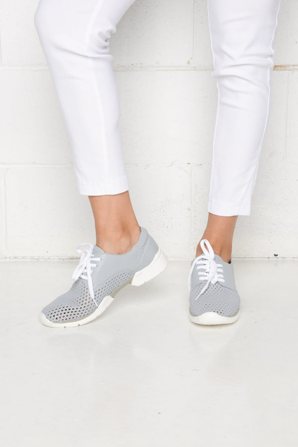 Xana Blue Leather Sneaker