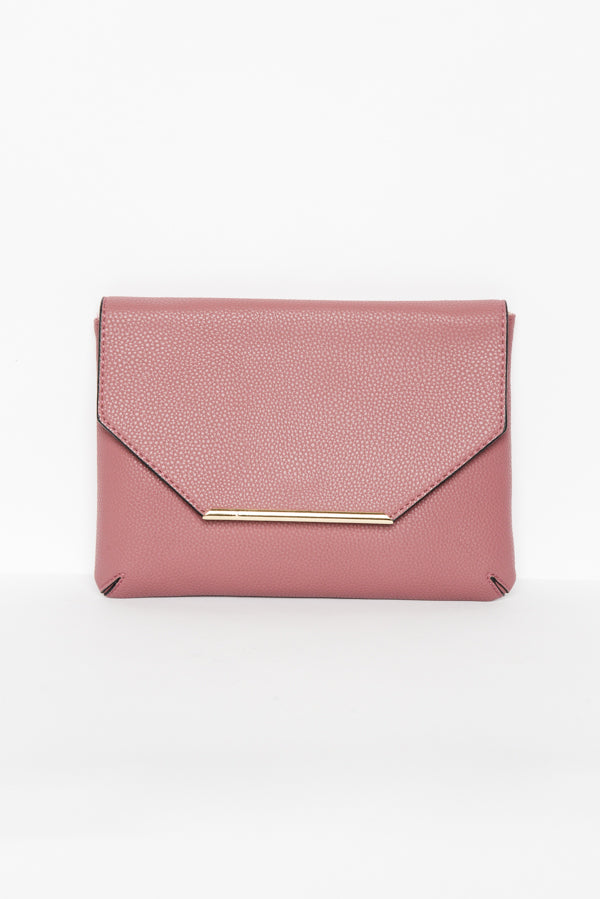 Berry Envelope Clutch