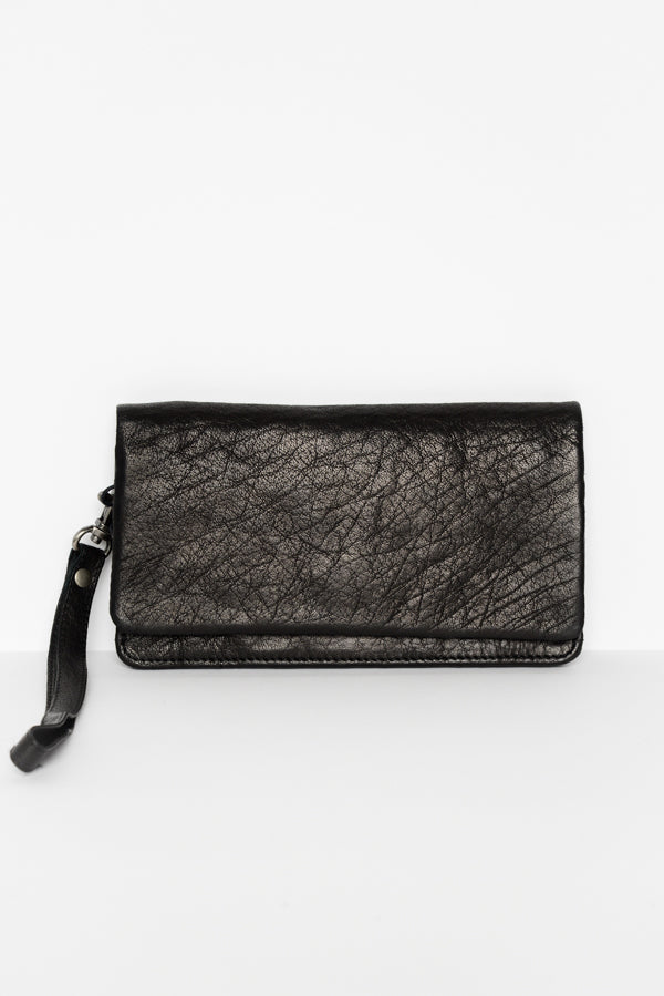 Albury Black Leather Wallet - Blue Bungalow