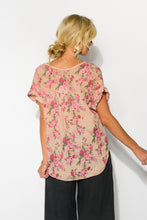 Blush Floral Linen Top - Blue Bungalow
